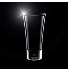 Empty Glass on black vector image vector image