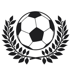 football ball and laurel wreath vector image