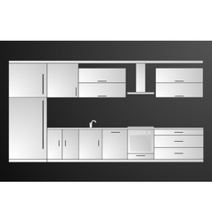 Kitchen Cover with Fridge Stove Dishwasher vector image
