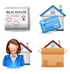 real estate icons set 2 vector image vector image