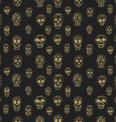 Seamless pattern with sugar skulls vector image