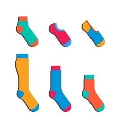 set colorful socks vector image
