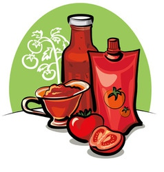 tomato sauce and ketchup vector image