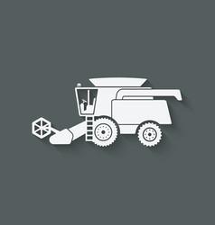 combine harvester farm machinery vector image