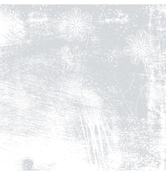 Floral Background Grey vector image