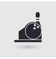 Icon bowling Checkout Counter Cashier bowling vector image