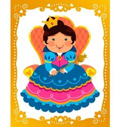 cartoon queen vector image vector image