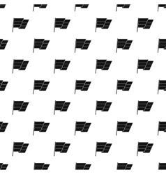 Flag on flagpole pattern simple style vector image vector image