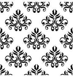 Leaves and tendrils compositions seamless pattern vector image vector image