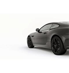Very fast sport black car vector image