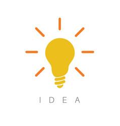 idea - minimalist concept ilustration vector image
