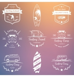 Set of Surfing Logo vector image vector image