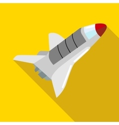 Space shuttle icon in flat style vector image vector image