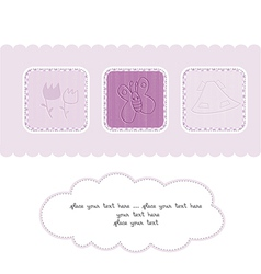 Welcome the New Baby Card vector image