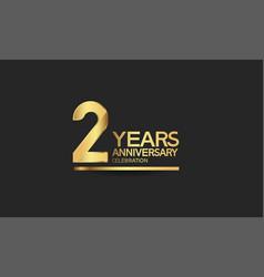 2 years anniversary celebration with elegant vector