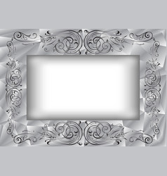 abstract frame with ornament vector image