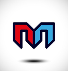 Abstract Letter M Icon vector image