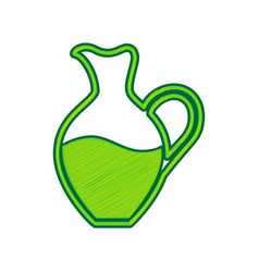 amphora sign lemon scribble icon on white vector image vector image