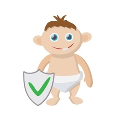 Baby insurance icon cartoon style vector