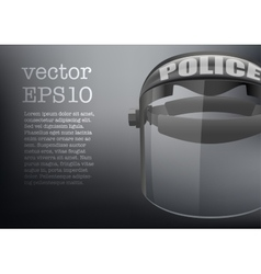Background of Police protect mask vector