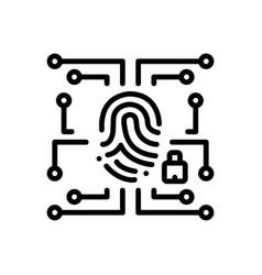 Biometric data security vector