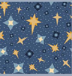 Blue stars and diamonds celestial seamless vector