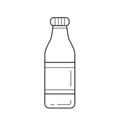 bottle of soft drink line icon vector image