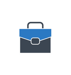 briefcase flat related glyph icon vector image