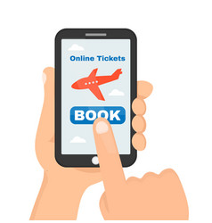 buying or booking online airline tickets vector image