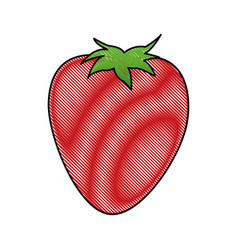 Cartoon strawberry ingredient fruit icon vector