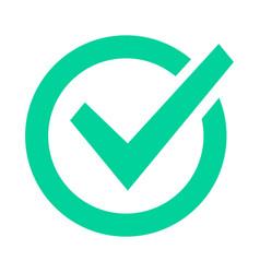 Check mark sign checklist green marking logo vector