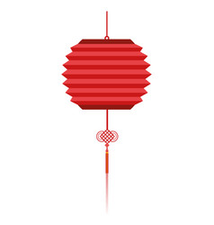chinese red lanterns vector image
