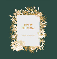 christmas vertical background decorated vector image