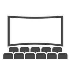 cinema hall icon movie theater entertainment vector image