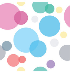 colorful circles seamless geometric pattern vector image