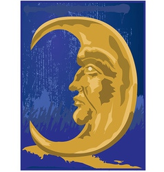 Cresent moon design vector