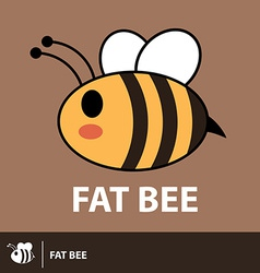 Cute fat bee symbol icon vector image
