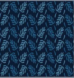 Dark classic blue simple watercolor leaf vector