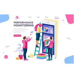 Designer building monitor chart vector