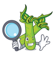 Detective wasabi character cartoon style vector