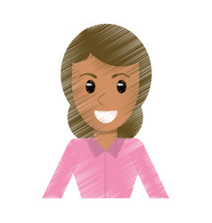 drawing portrait woman avatar vector image