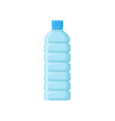 Empty plastic bottle with blue lid transparent vector