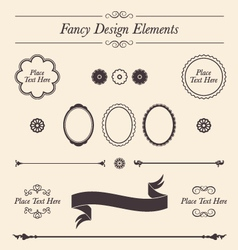 Fancy Design Elements and Icons Set vector