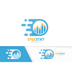 Fast graph logo combination speed diagram vector