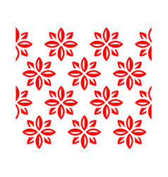 flowers pattern for textile industry vector image