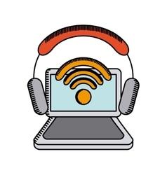 free wifi design vector image
