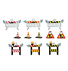 Funny Work in Progress Signs vector image