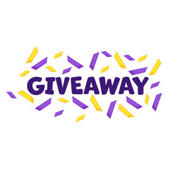 giveaway banner with falling confetti celebration vector image