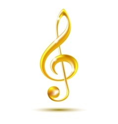Gold treble clef vector