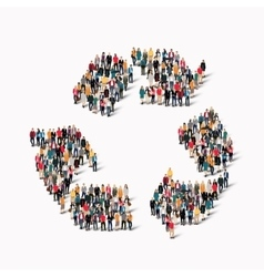 group people shape recycling vector image
